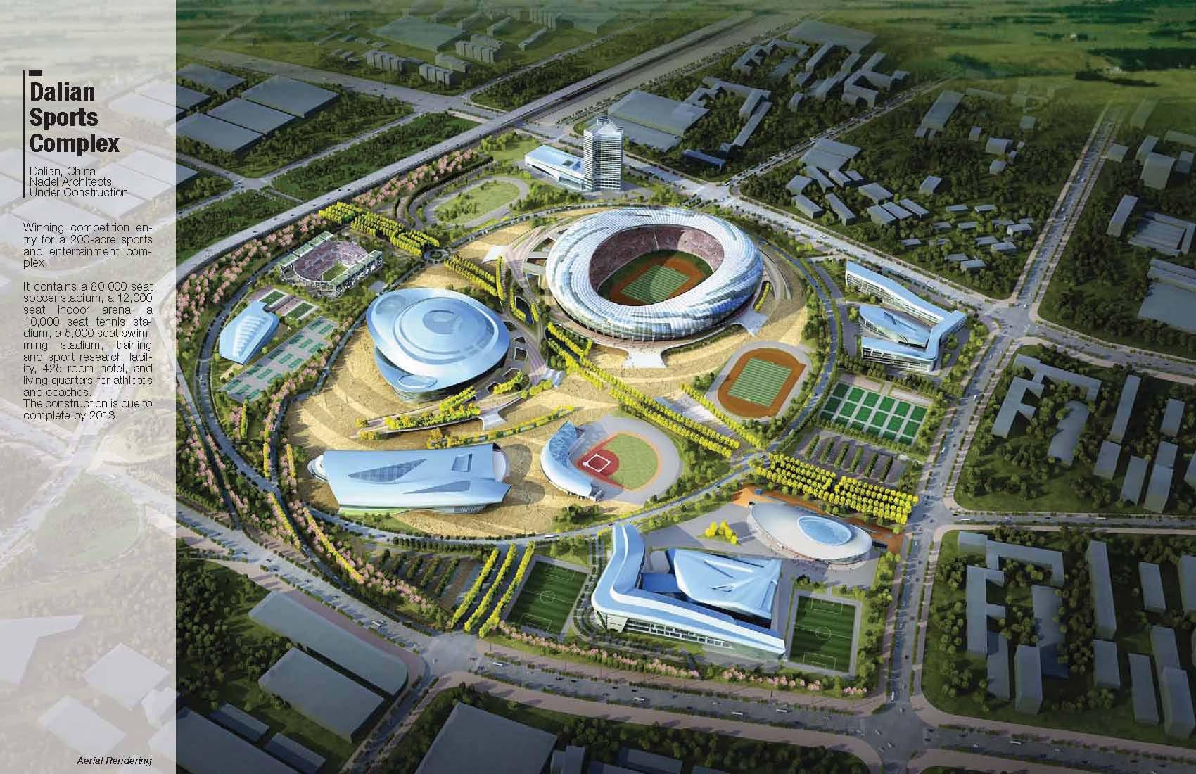 Dalian Sports Complex  Andre Abrahamian AIA  Archinect