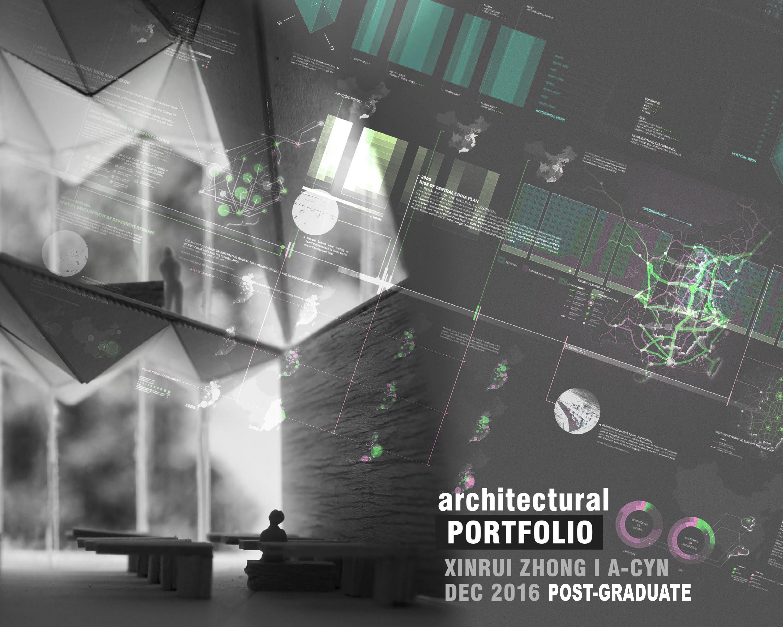 Portfolio Cover Page Xinrui Zhong Archinect