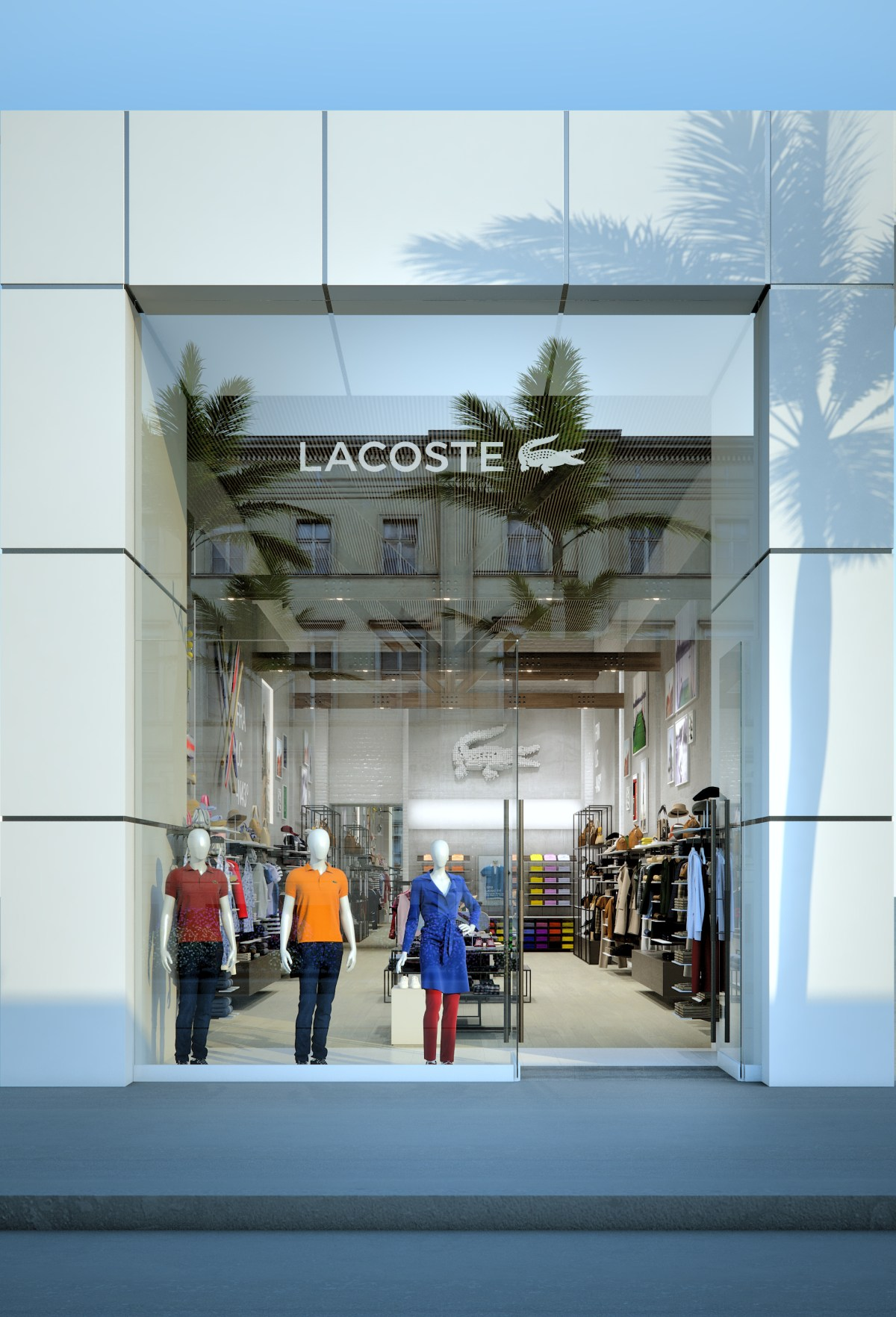 Lacoste Store Rodeo Drive Los Angeles  daniele minestrini  Archinect