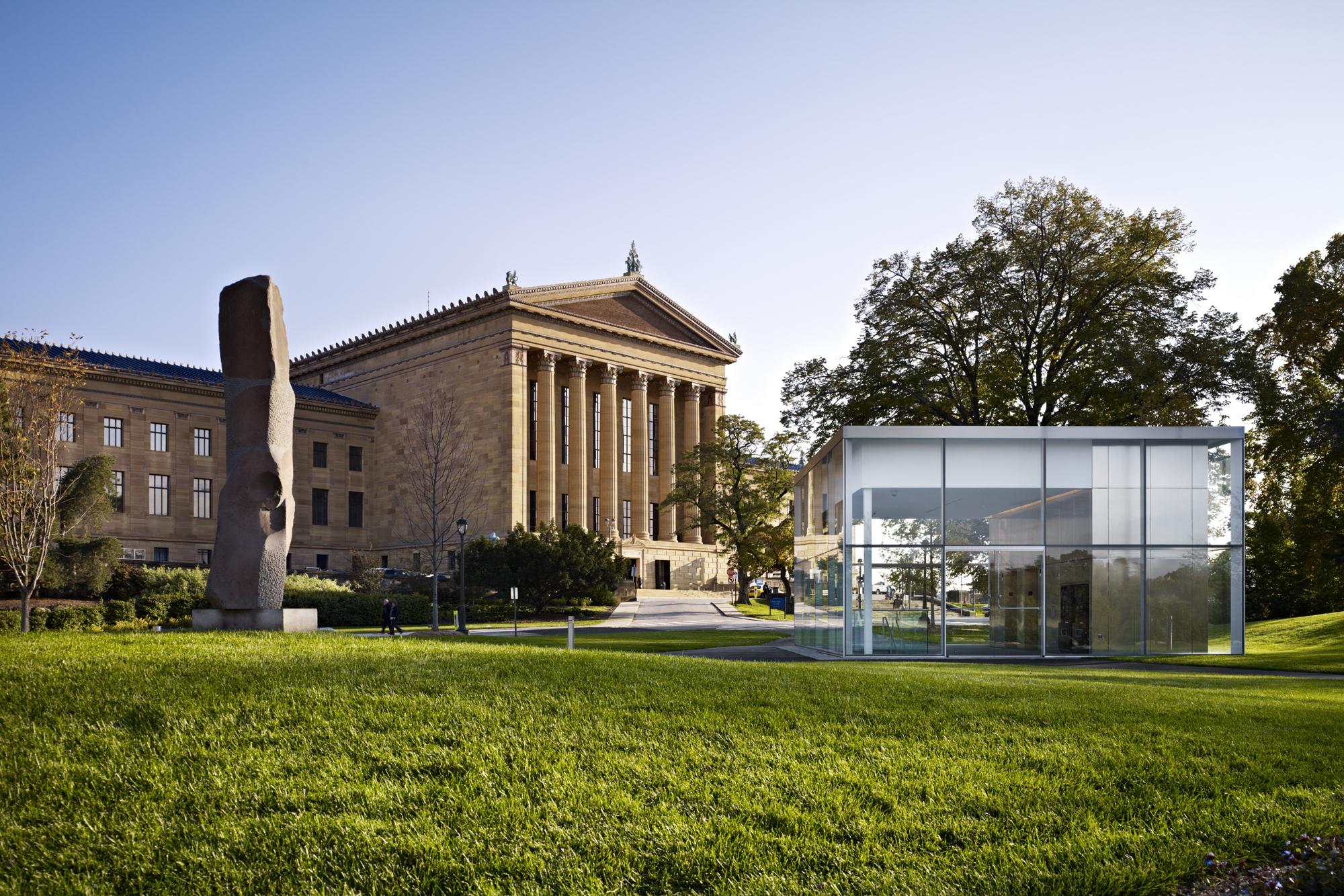 Philadelphia Museum Of Art Anne Harnoncourt Sculpture Garden & Parking Facility Atkin Olshin