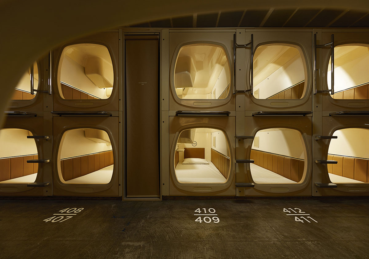 Japanese Capsule Hotel Scandinavian Spa Treatment