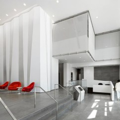 Office Lobby Chairs What Size Round Dining Table For 6 Gkd Metal Mesh Plays Disappearing Act On Interior Building | News Archinect