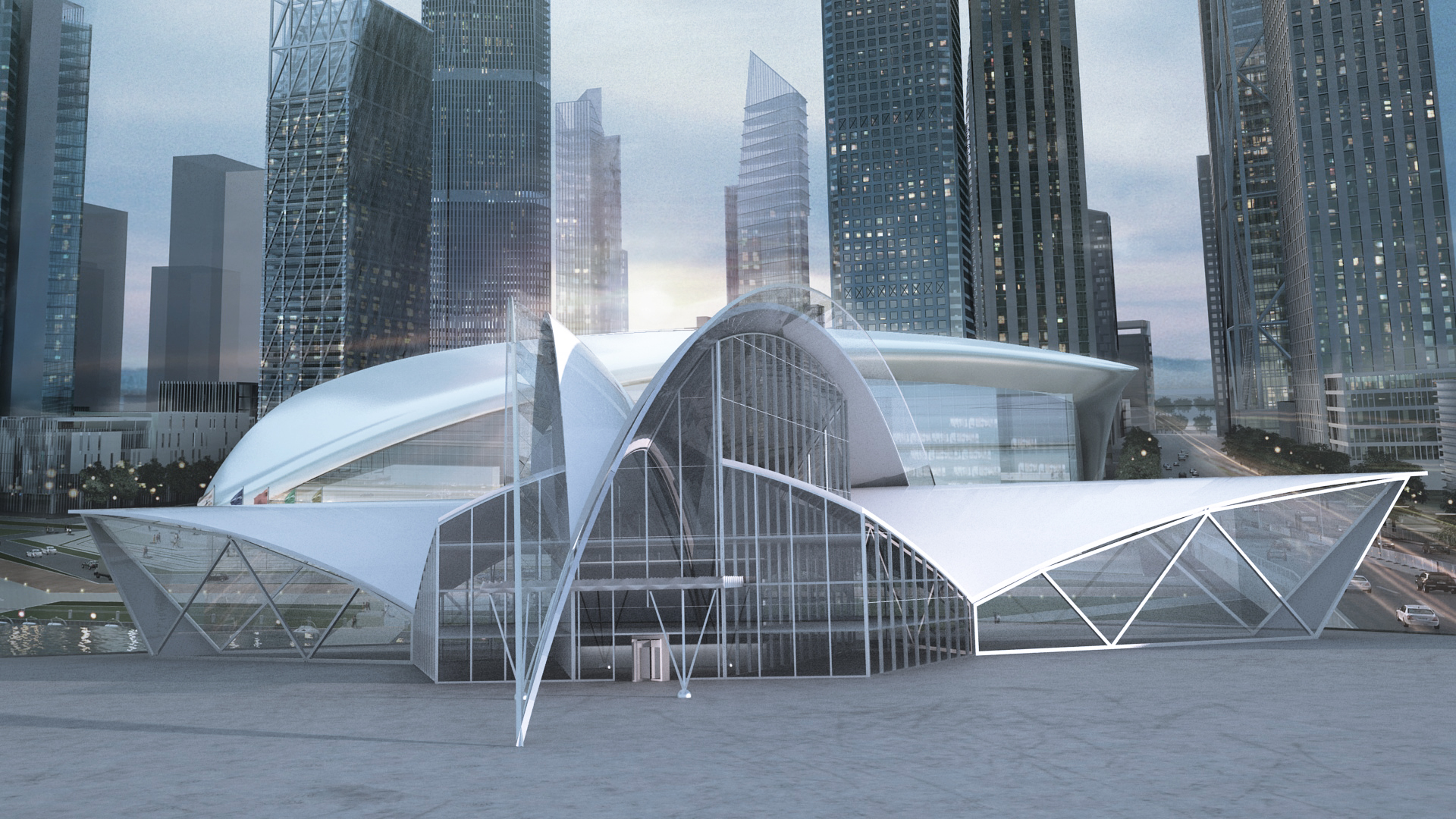 Futuristic Building Concept   The Engineering Design   Archinect