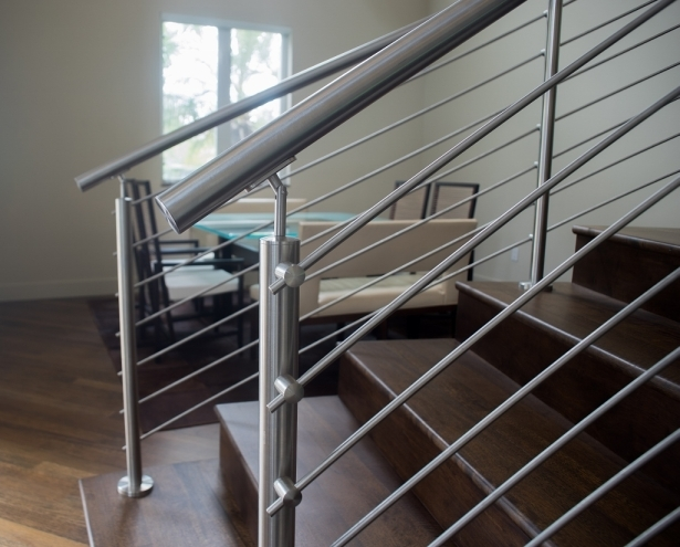 Curved Stainless Steel Rod Railings Bella Stairs Llc Archinect | Stainless Steel Hand Railing | Balustrade | Modern | Fabrication | Welded Steel | Stair Outdoors