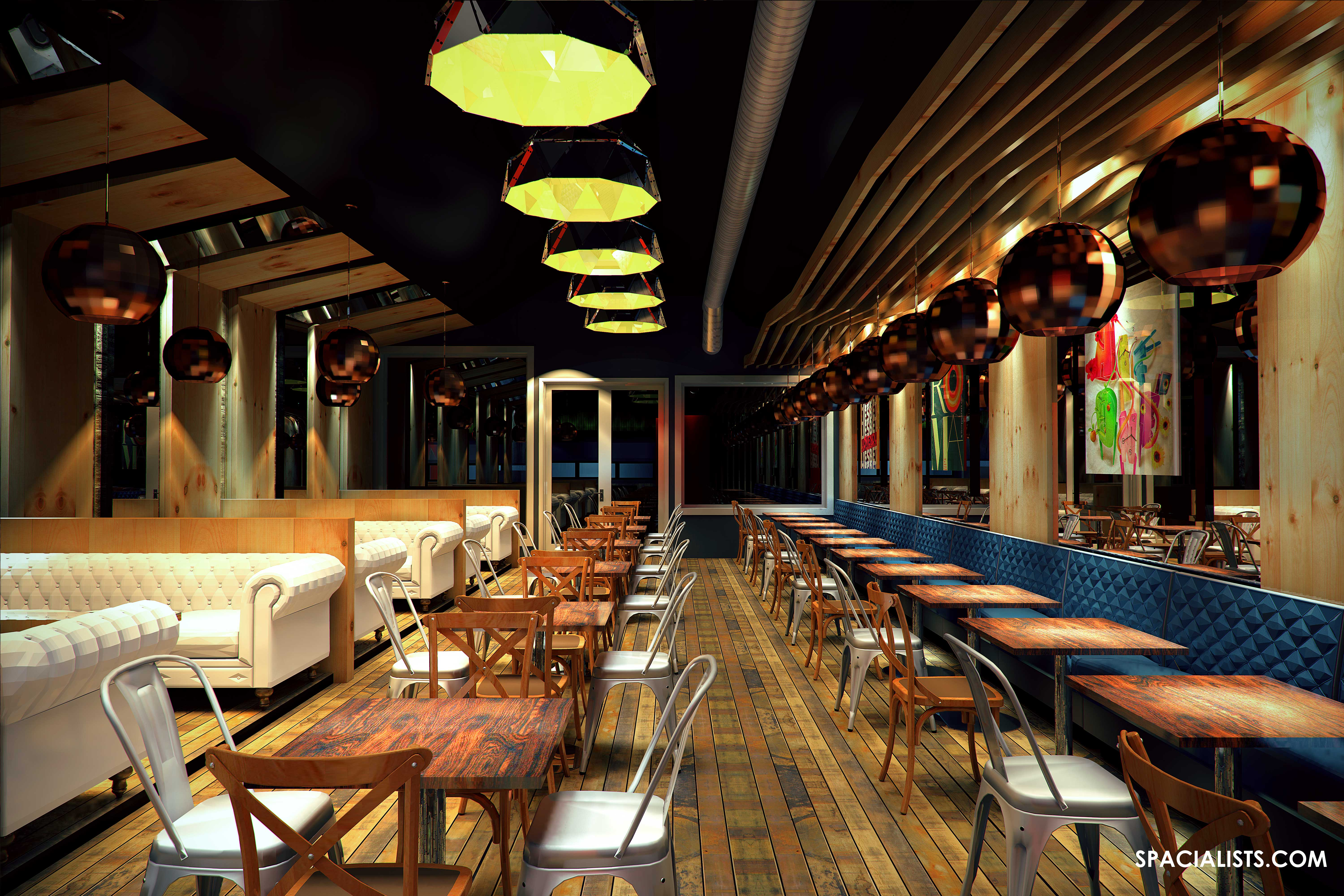 NEW RESTAURANT DESIGN  3D VISUALIZATION  SPACIALISTS Architectural Virtual Reality