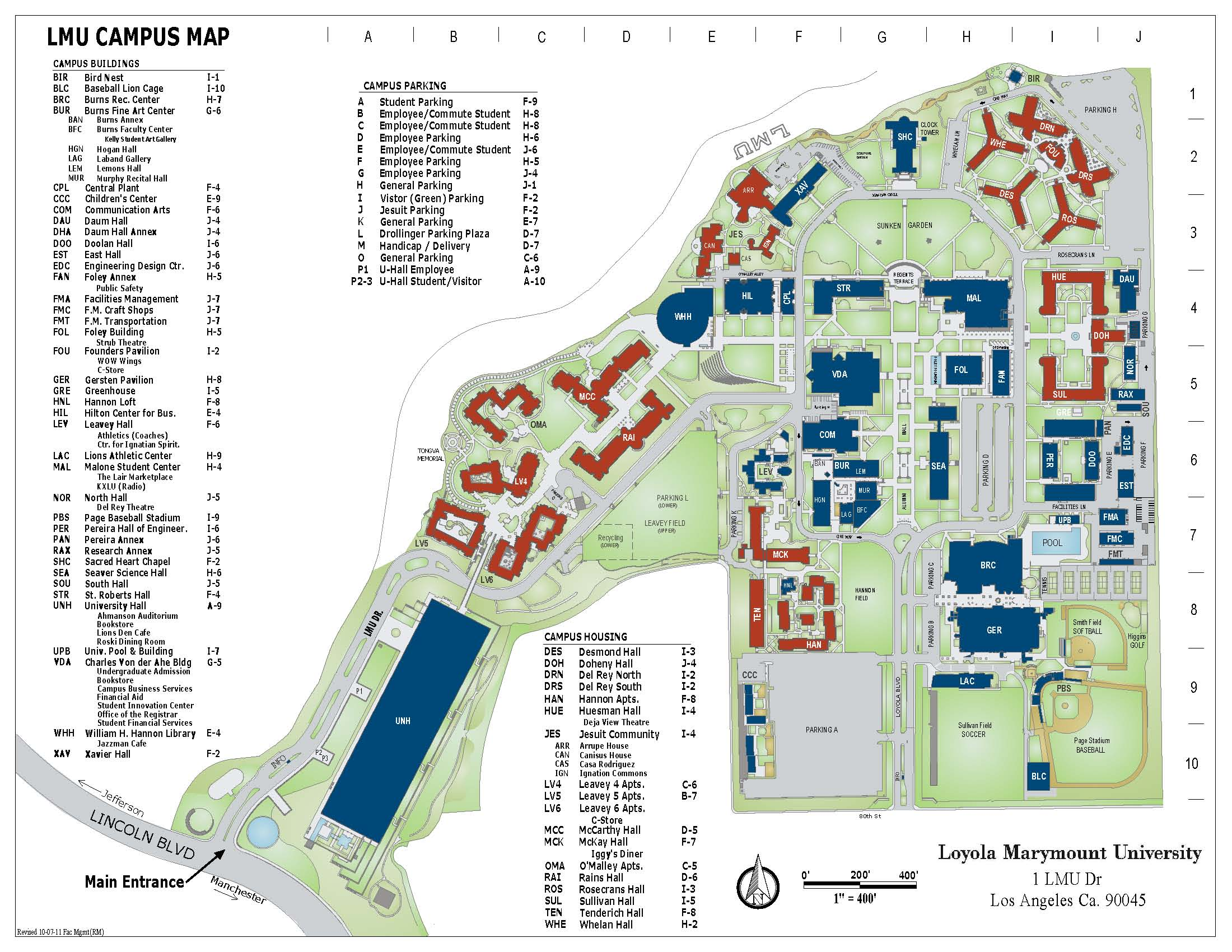 LMU Campus Map Raymond Mongi Archinect