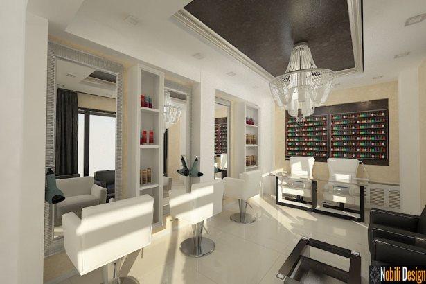 Amenajare salon de infrumusetare  Design interior salon coafor  Gabriela Design Interior