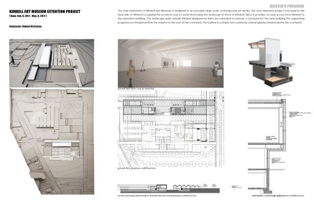 Kimbell Art Museum Extension  Guannan Chen  Archinect