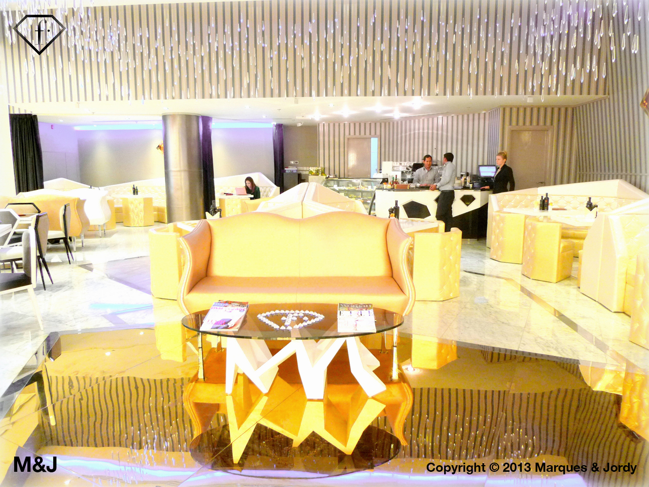 living room cafe abu dhabi keyboard and mouse fashion tv opens in marques jordy archinect