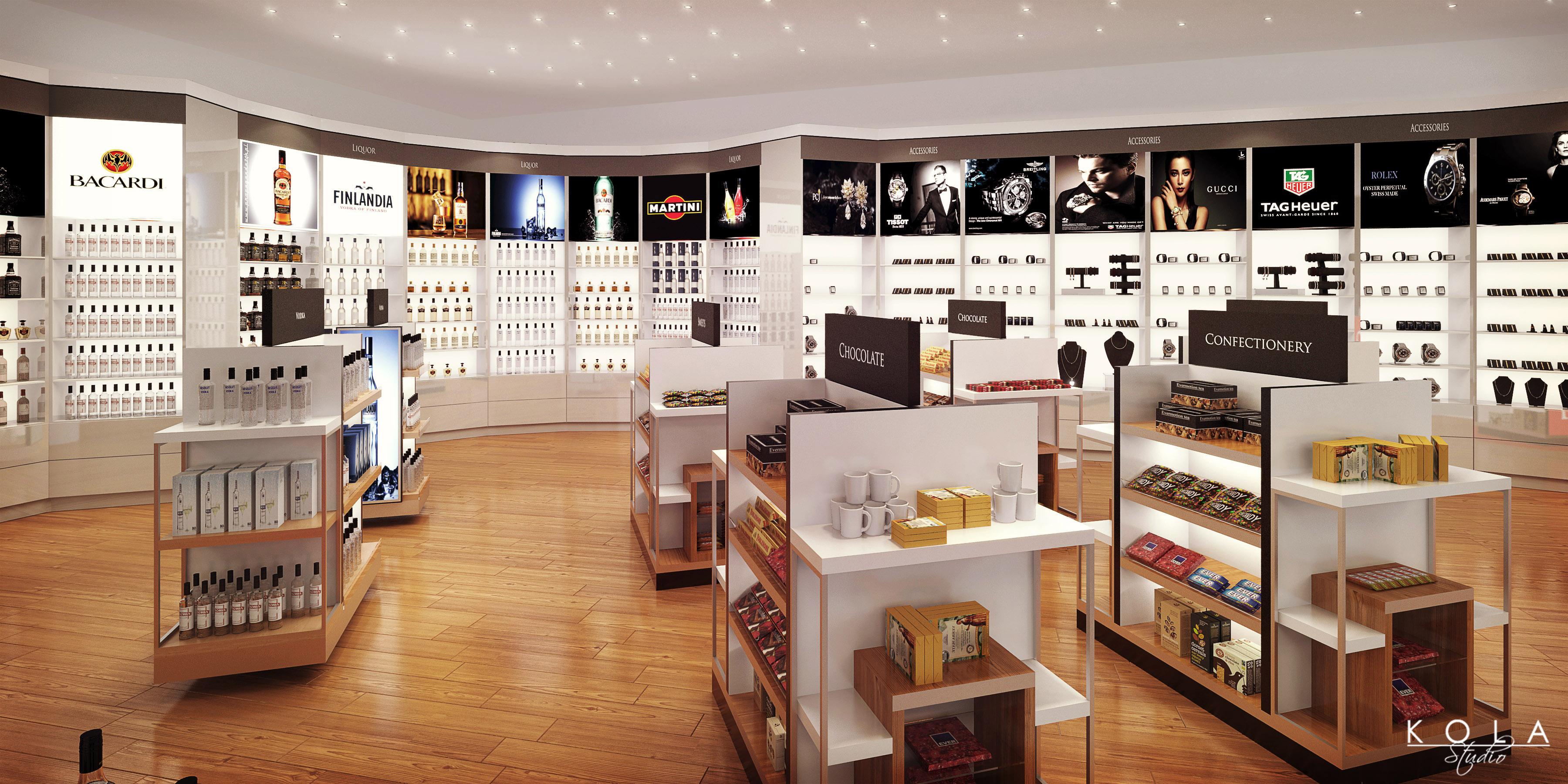 Duty Free Shop Kola Studio Architectural Visualizations