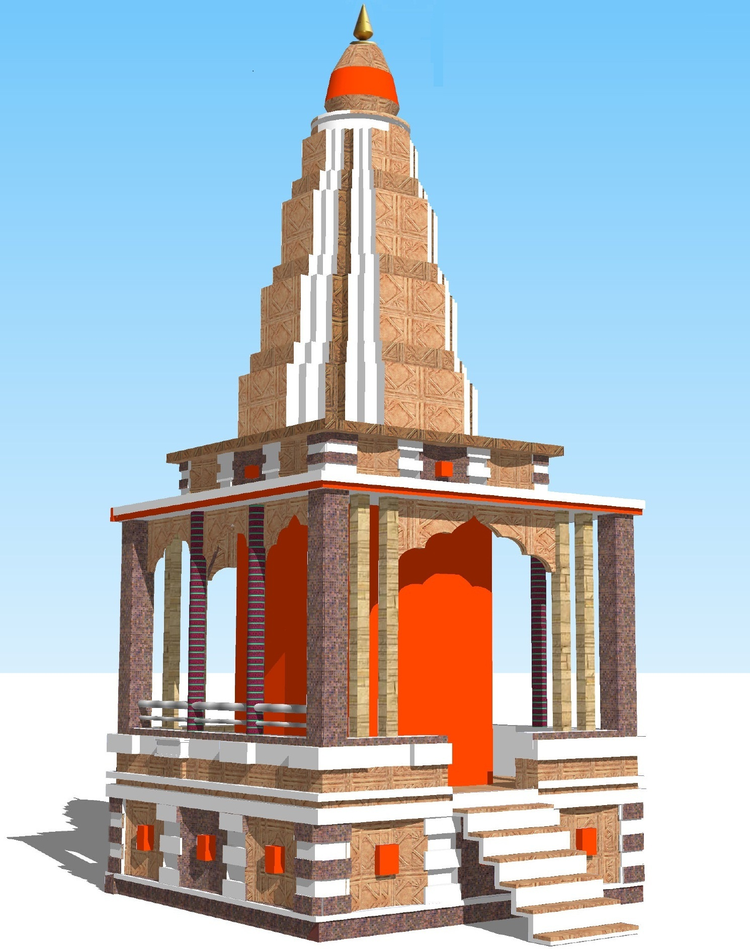 Hanuman Temple 3d Home Manish Ingle Archinect