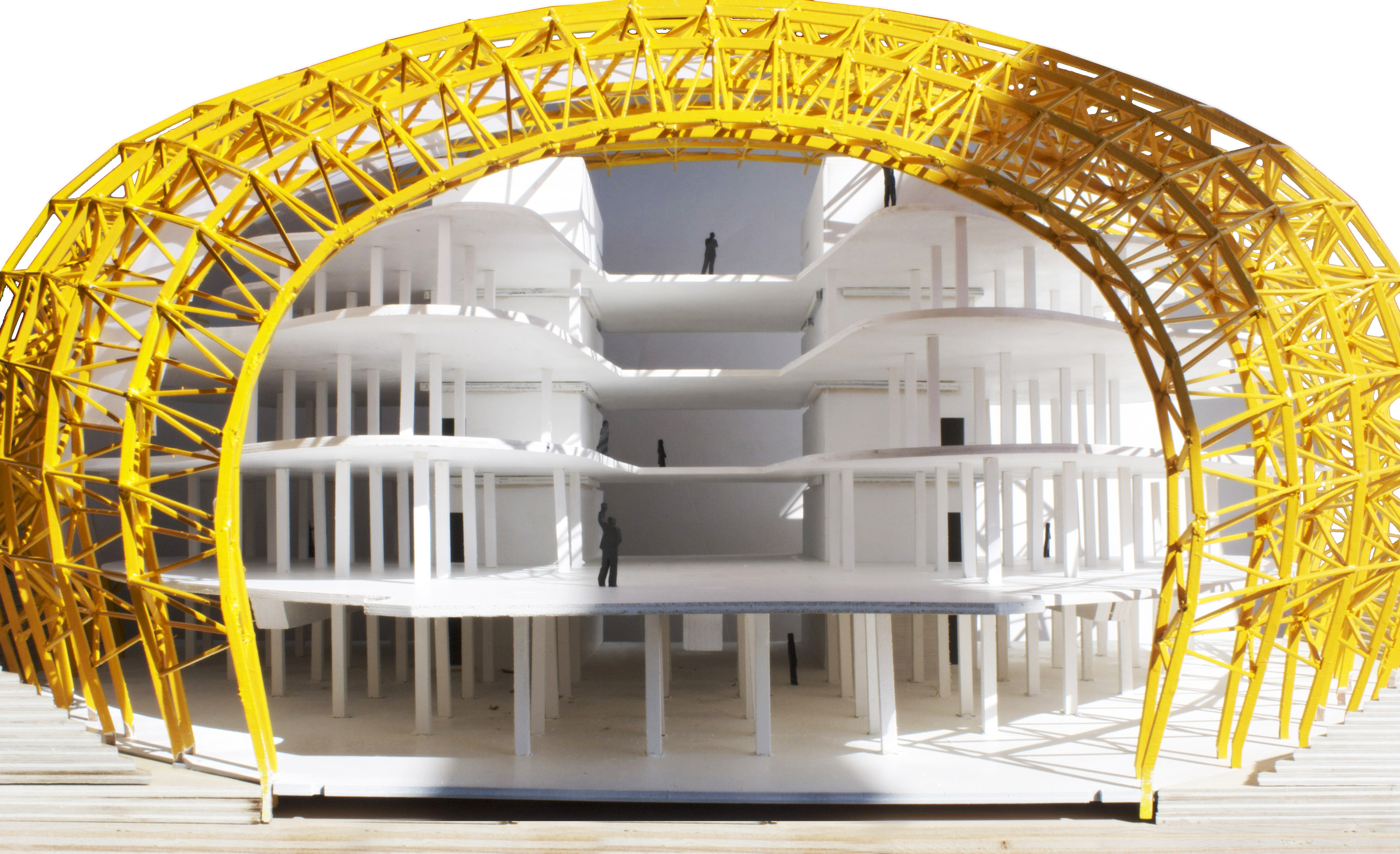 Berlin Free Philological Library Model  Stephen Stewart  Archinect