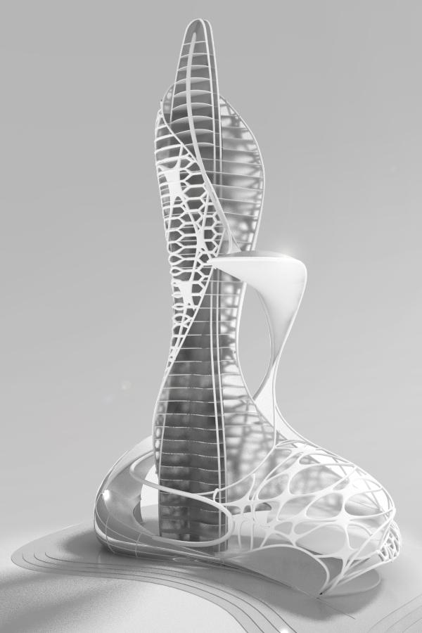 skyscraper concept 3D  Mihai Dragos Potra  Archinect