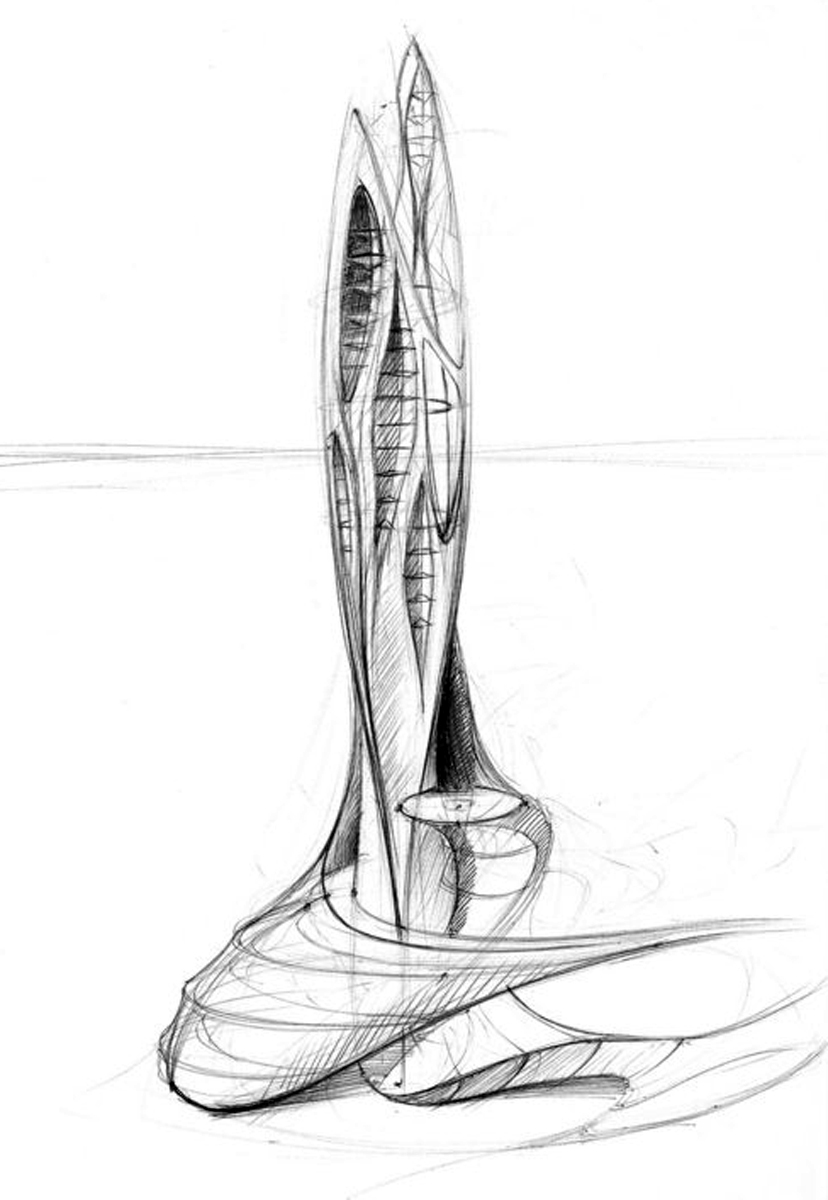 skyscraper sketches  Mihai Dragos Potra  Archinect