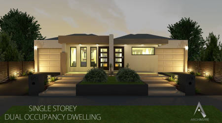 Dual Occupancy Modern House Plans & Designs