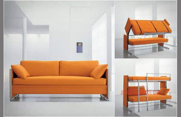 Small home furniture sofa and bunkbed