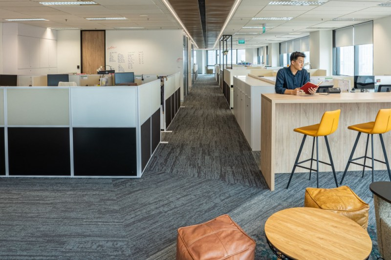 Comfortable spaces and restful zones are a key part of this decade's office design trends