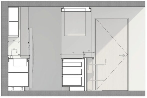 Simple kitchen design schematic