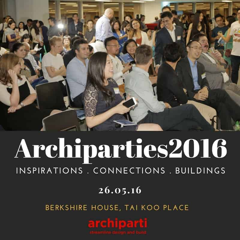 Archiparties 2016 – Inspirations, Connections, Buildings