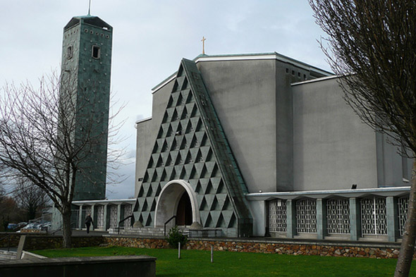 Modern Architecture Dublin 1962 - church of our lady mother of divine grace, raheny, co