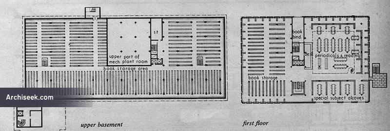 1961 – Koralek's winning design for Trinity College library
