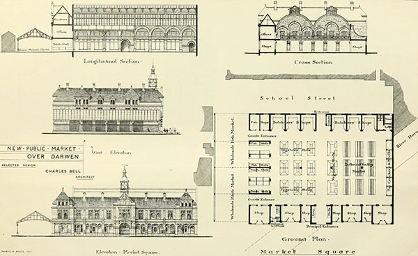 As Part Of A Civic Plan To Develop The Town, A Competition Was Held To  Design A New Town Hall And Market. It Was Later Decided To Defer The  Building Of A ...