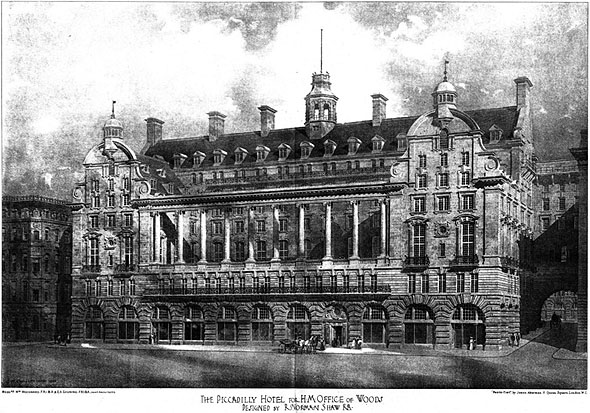 1906 the piccadilly hotel london archiseek irish. Black Bedroom Furniture Sets. Home Design Ideas