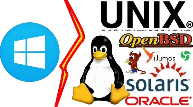 Windows logo vs *nix logos