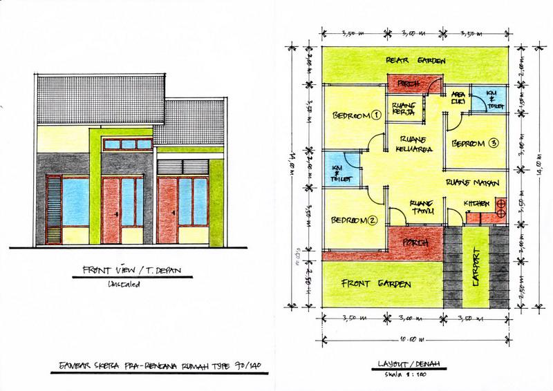Denah Rumah Minimalis 3 Kamar Ukuran 6x12  denah rumah minimalis 6a 9 3 kamar rumah minimalis webblog