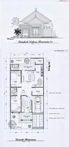 Desain Rumah Art Deco Ukuran 8 m x 17 m  PT