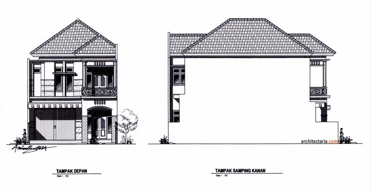 Desain Rumah Dan Ruang Usaha RukoRukan 2 Lantai  PT