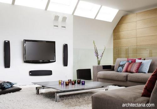 Menata Ruangan yang Dilengkapi TV Layar Lebar  PT Architectaria Media Cipta