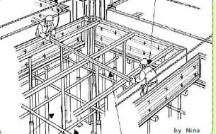 型枠スラプ作業01