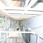 建物の軒天部分に「スパンドレル」を貼りました!(建築工事編)