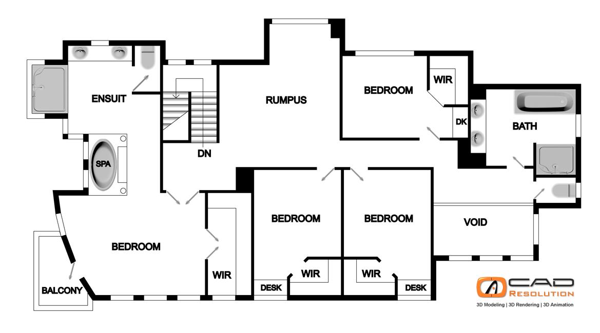 Architectural 3D Floor Plans and 3D House Design Help