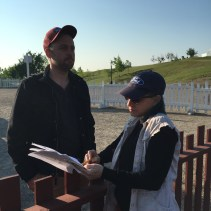 Project director Peter Christensen and graduate student Alana Wolf-Johnson
