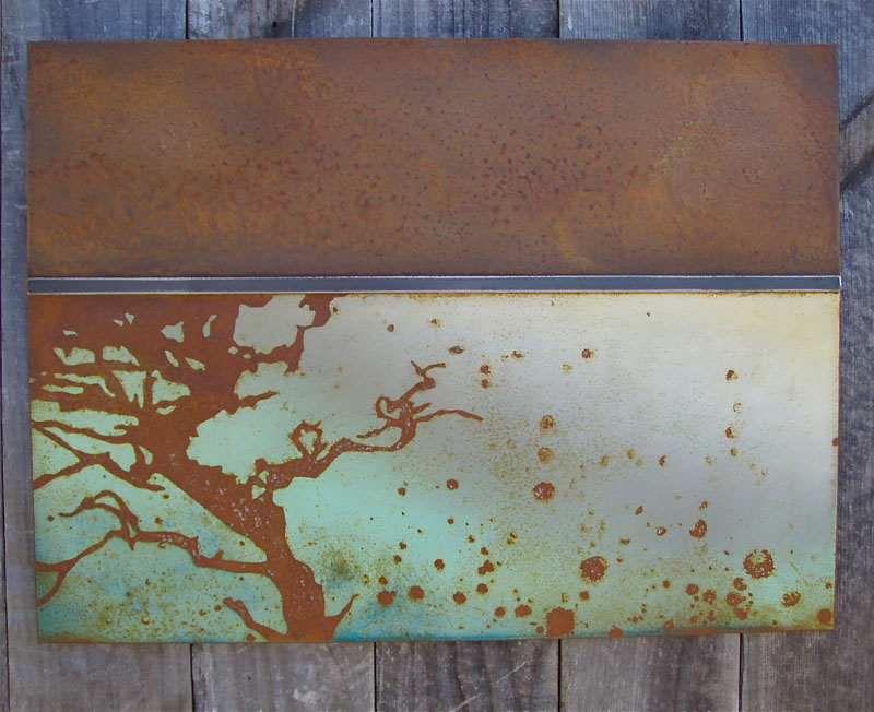 exquisite rust patina metal artwork art architectural