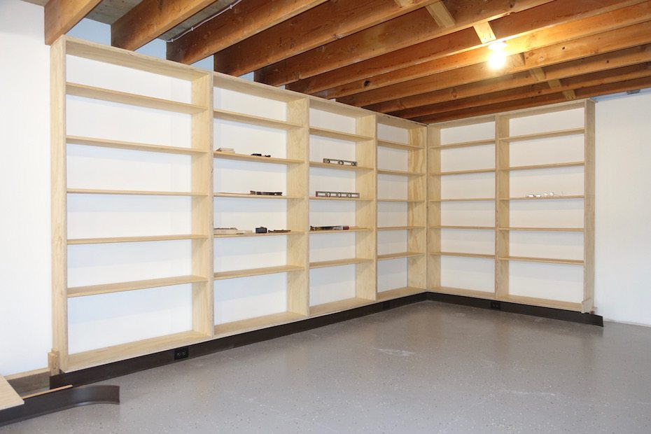 Bookcases and Lighting