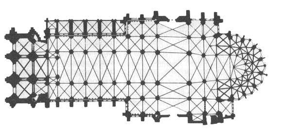 plan bazyliki Saint Denis
