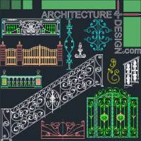 forged wrought iron, railing and gate designs , stone