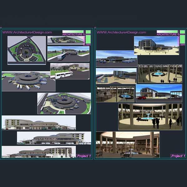 Bus Station Architectural Design Samples For Download