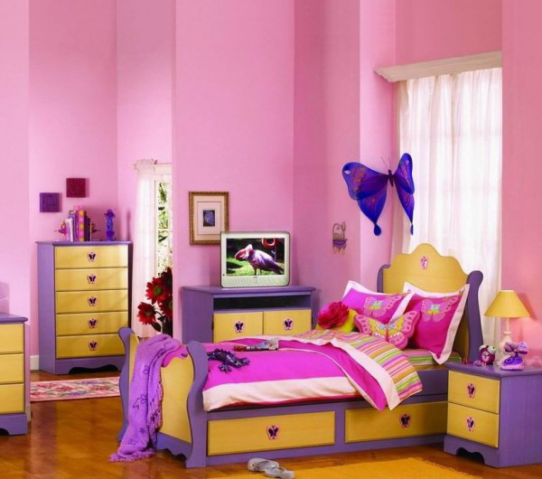 Pink Kids room design  Architecture  Interior Design