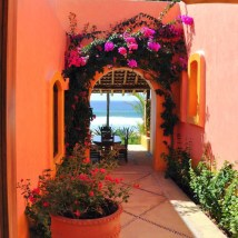 Mexican Courtyard Style House