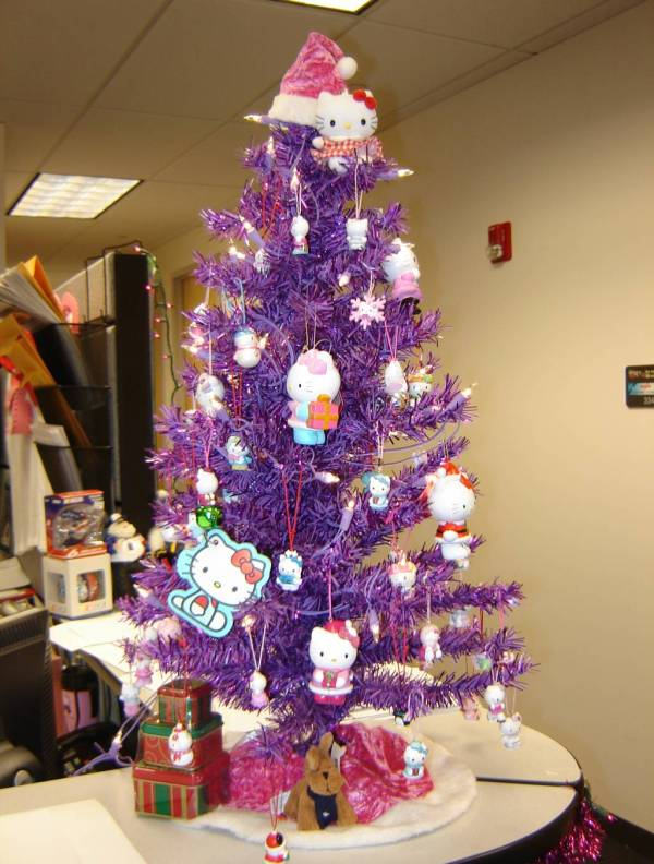 purple christmas tree decorations - Purple Christmas Decorations Ideas