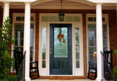 Black Single Front Doors