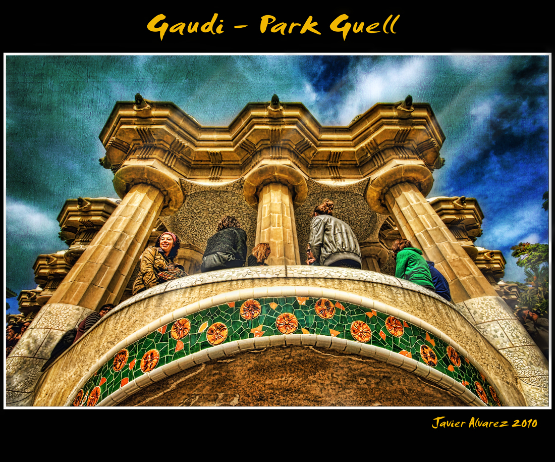 Park Guell  Works of Antoni Gaud  Barcelona Spain