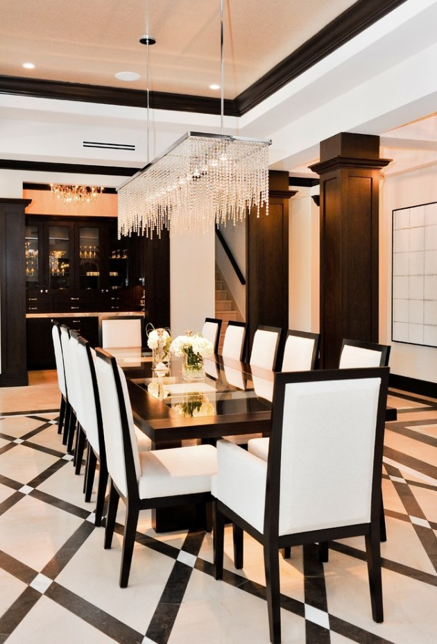 15 HighEnd Contemporary Dining Room Designs