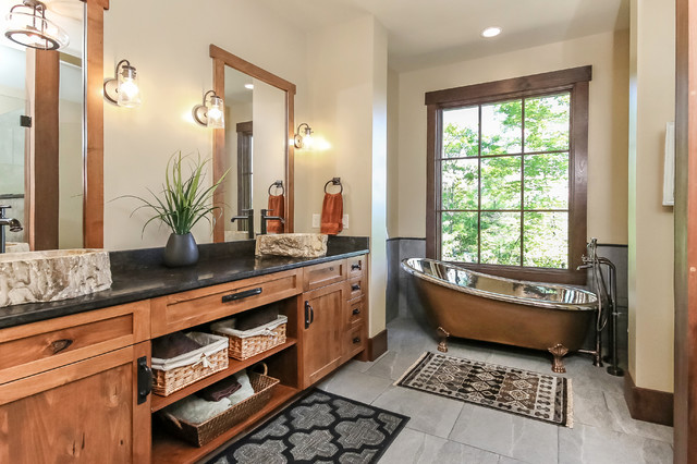 15 Outstanding Rustic Bathroom Designs That You're Going
