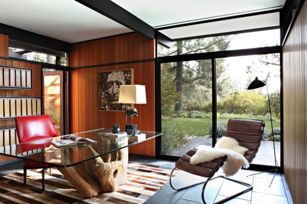 16 Spectacular Mid-Century Modern Home Office Designs For