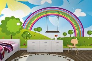 wall bedroom rainbow murals designs kid childs modern tree amazing bedrooms nursery child